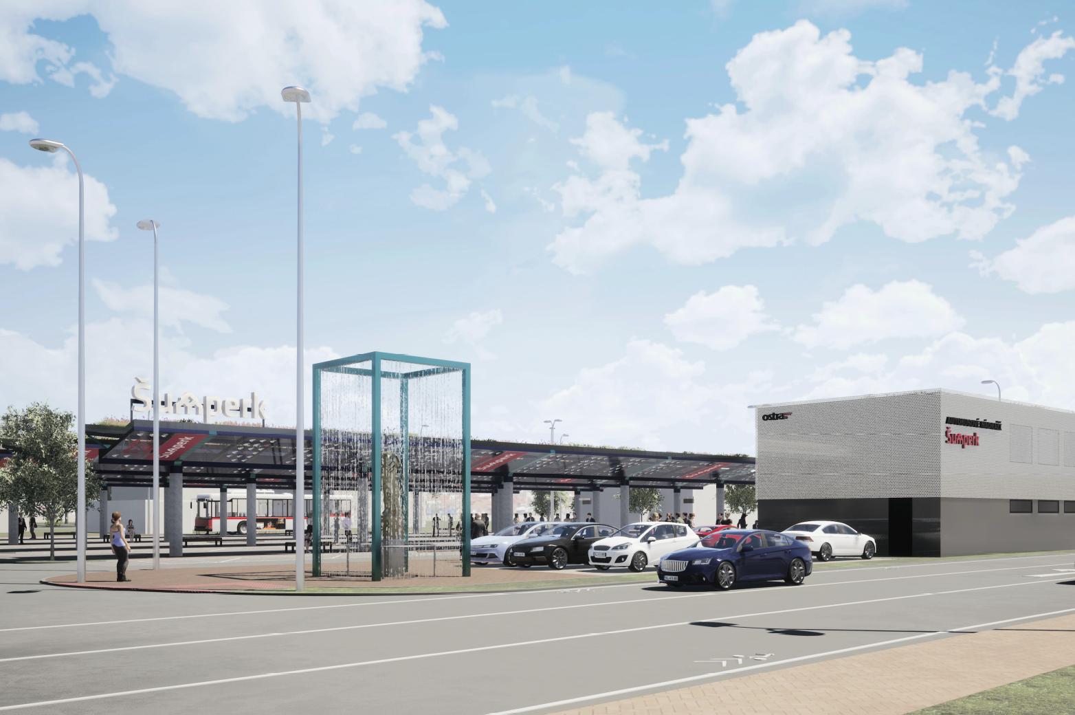 Rekonstrukce autobusového nádraží v Šumperku je ve finále, otevřeno bude v lednu 2021